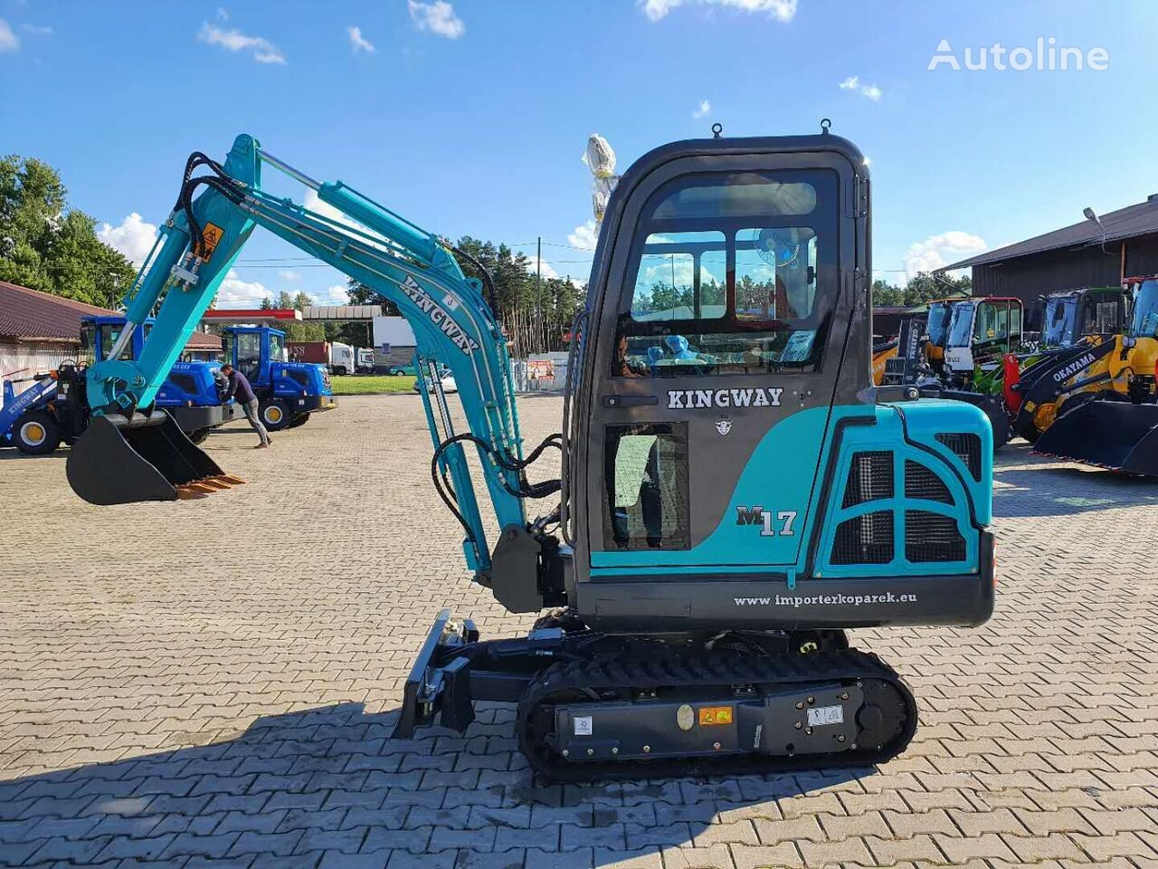new KINGWAY M17 + łyżki 300/500/800 mini excavator
