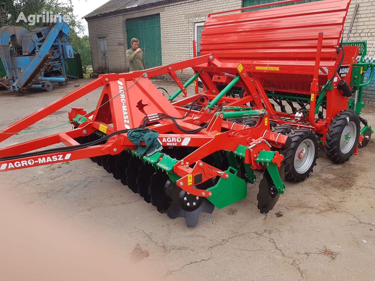 new AGRO-MASZ Sivalka, kompleks pid traktor na 100 k.s.!!! mechanical seed drill