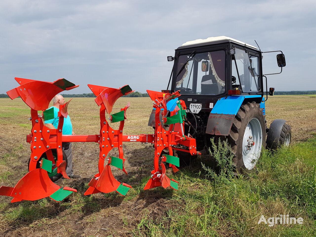 new AGRO-MASZ Plug oborotniy 3-korpusniy 25*30*35*40 sm V NAYaVNOSTI reversible plough
