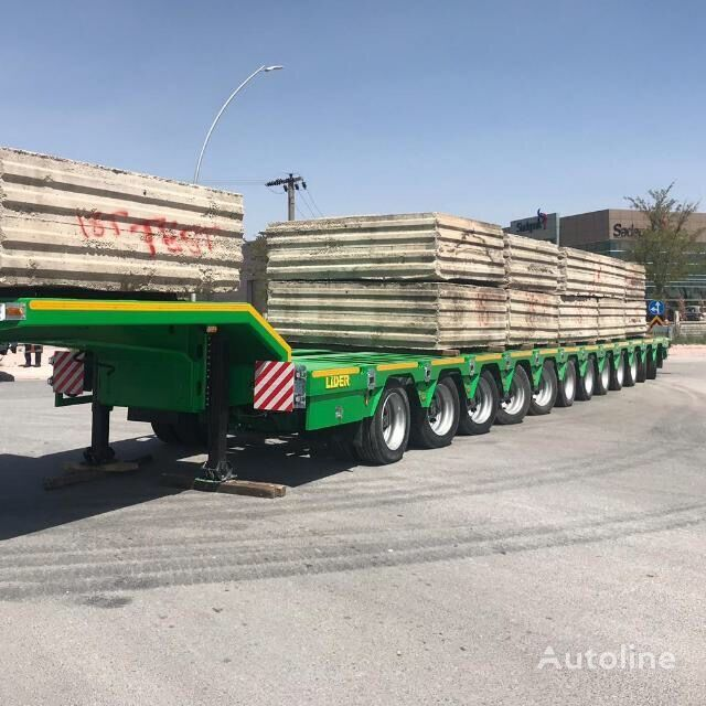 new LIDER 2020 Model 200 TONS CAPACITY New Productions Directly From Manuf low bed semi-trailer