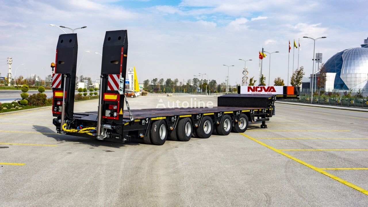 new NOVA NEW 5 AXLE LOWBED SEMI TRAILER PRODUCTION low bed semi-trailer