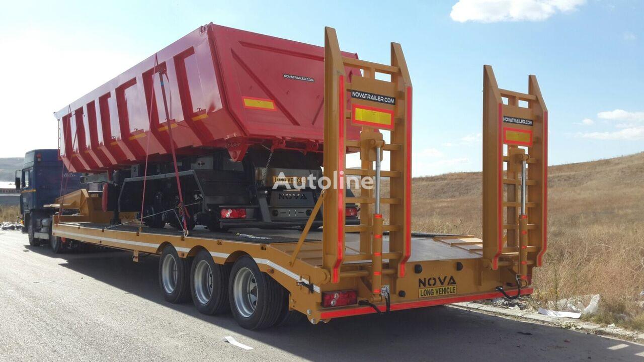 new NOVA NOUVELLE REMORQUE PORTE-ENGINS ADAPTÉE À L'AFRIQUE low bed semi-trailer