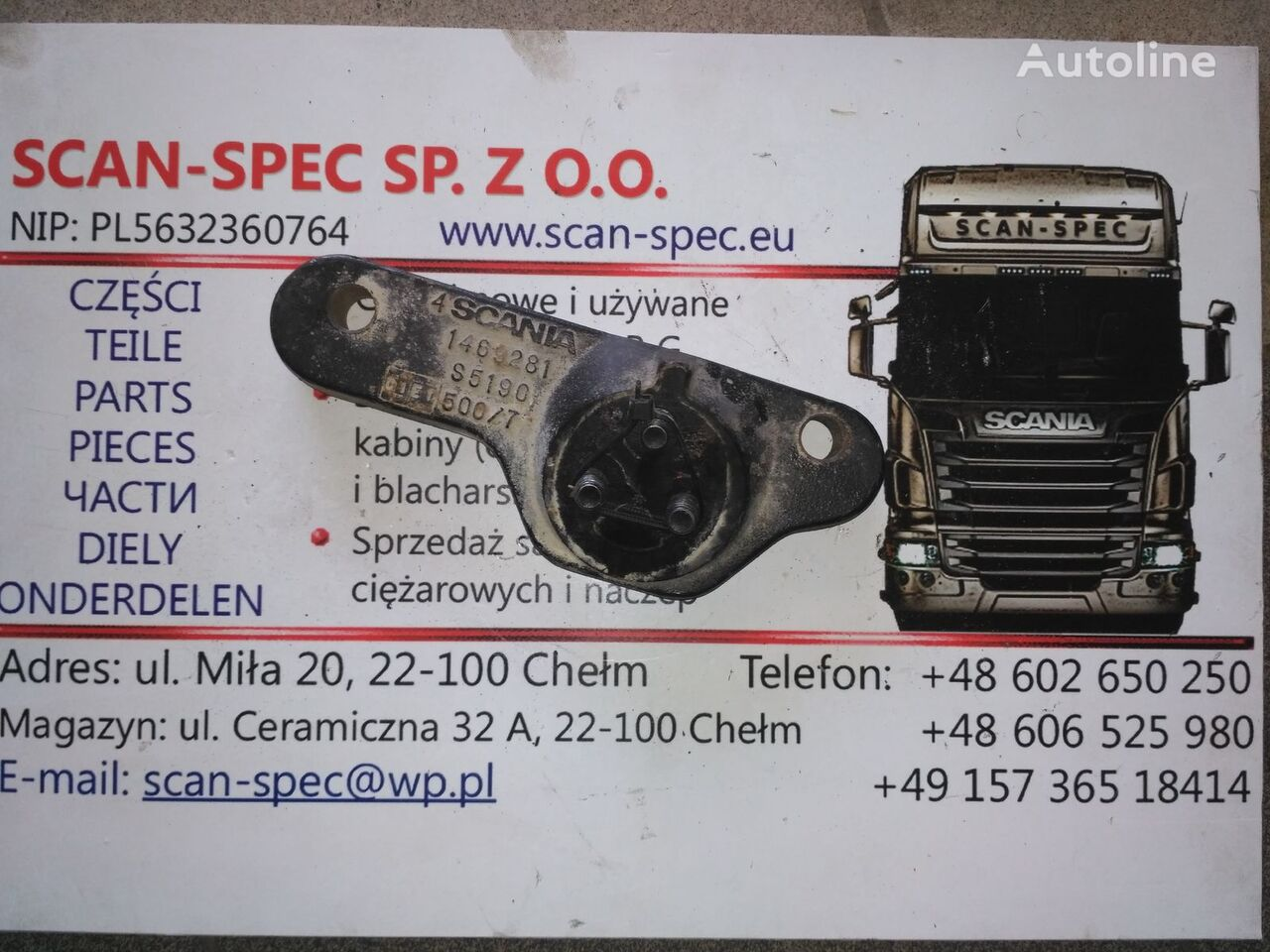 SCANIA wspornik mocowania (1469279) holder for SCANIA P R G T tractor unit