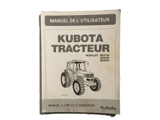 LIVRET instruction manual for Kubota truck