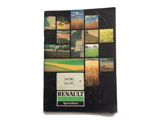 LIVRET utilisation et notice instruction manual for RENAULT tractor