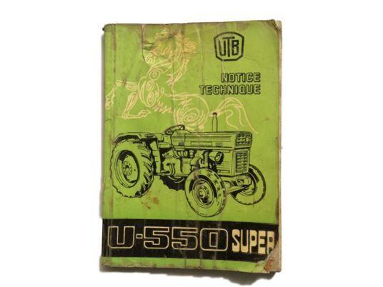 LIVRET utilisation et notice Tracteur UTB instruction manual for tractor
