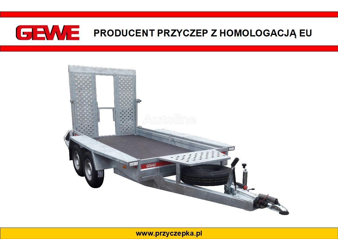 new GEWE P3500 E/1 Przyczepa pod minikoparkę SUPER MOCNA! equipment trailer
