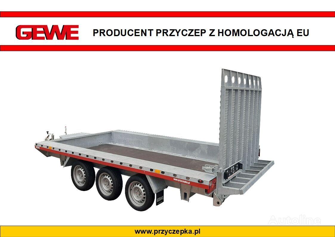 new GEWE Przyczepa pod minikoparke 3osiowa super mocna, B3500 E/1 equipment trailer