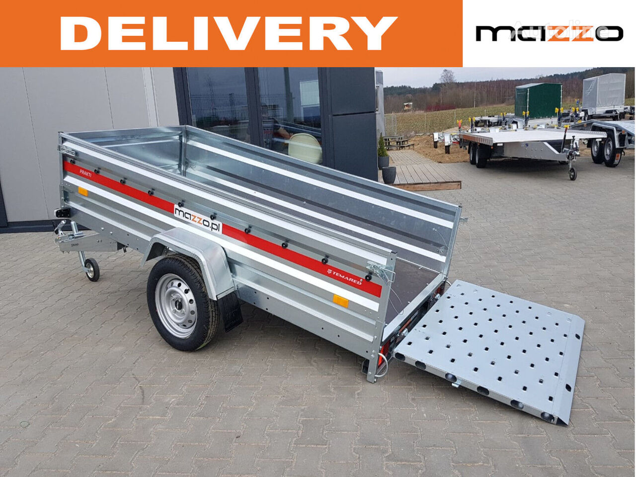 new 263x125x46cm Tipper trailer K2612 tail ramp 750kg light trailer