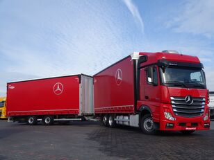 MERCEDES-BENZ ACTROS 2545 / JUMBO TRUCK - 120 M3 / VEHICULAR / I-COOL / EURO 6 curtainsider truck + curtain side trailer