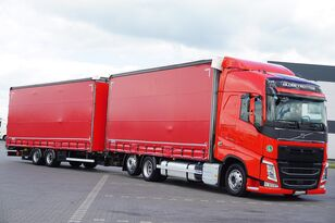 VOLVO / FH / 460 / ACC / EURO 6 / ZESTAW PRZEJAZDOWY 120 M3 curtainsider truck + curtain side trailer