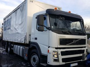 VOLVO FM 380 6X2 + hiab 144 BS 2 HI DUO curtainsider truck