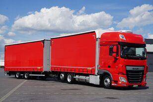 DAF 106 / 460 / SSC / ACC / EURO 6 / ZESTAW PRZEJAZDOWY 120 M3 curtainsider truck + curtain side trailer