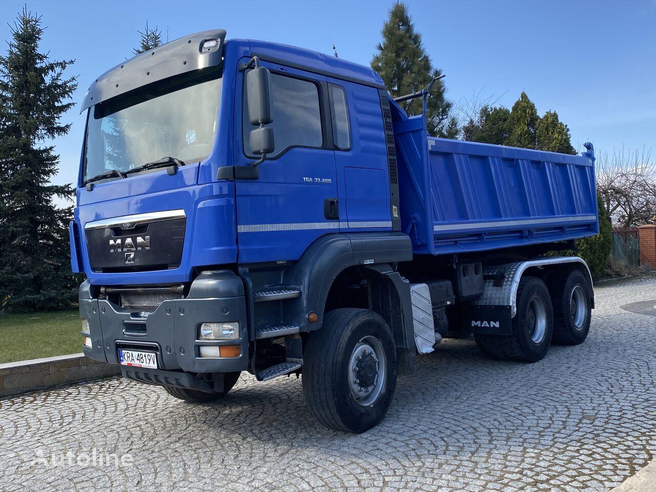 MAN TGA 33.480 6x6 Meiller Intarder Manual dump truck