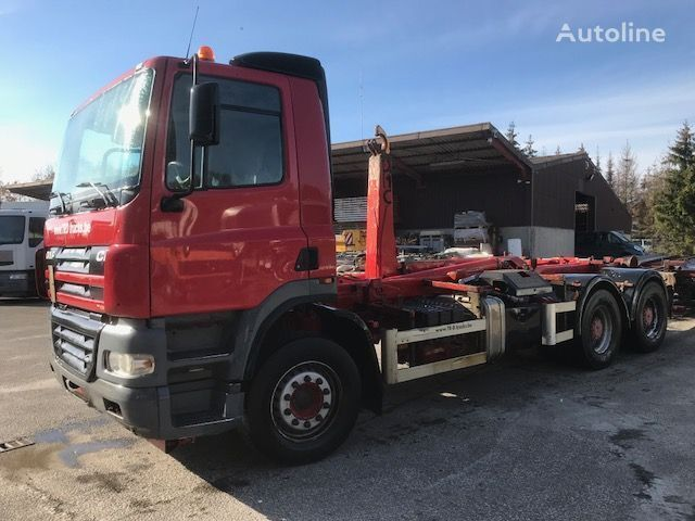DAF CF85.430 6X4 HOOK SYSTEM hook lift truck + container chassis trailer