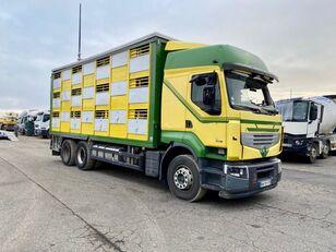 damaged RENAULT PREMIUM 460  livestock truck