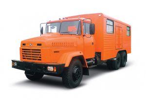 new KRAZ 65053 мастерская  military truck