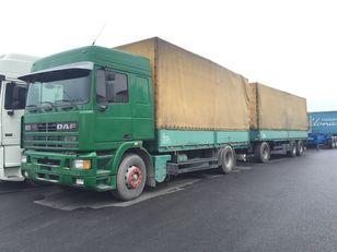 DAF 95.430 ATI EURO2 + SCHARZMULLER tilt truck + tilt trailer