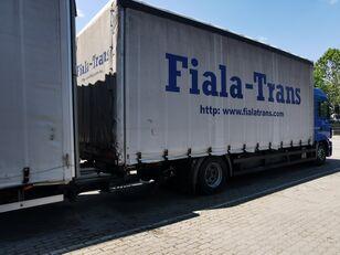 MAN tilt truck + tilt trailer