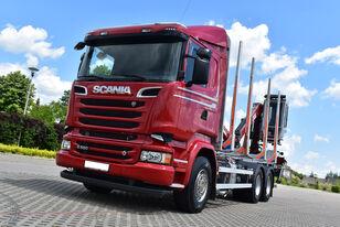 SCANIA R 580 V8 / OPTICRUISE / SPRING / RETARDER timber truck