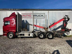 SCANIA R580, 6x4 + CRANE, EURO6, RETARDER timber truck